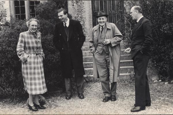 3 sybil on the left with frederick in hat with 2 unidentified plant scientists 1954 from a lost photo album found at worthing library west sussex record office