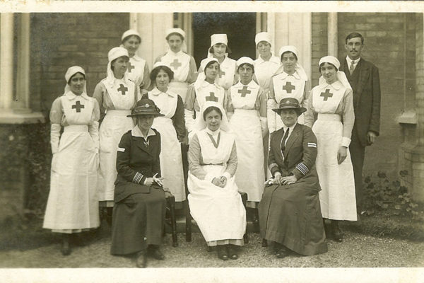 staff of the balcombe voluntary aid detachment hospital in