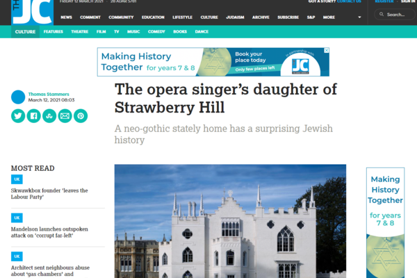 the opera singers daughter of strawberry hill