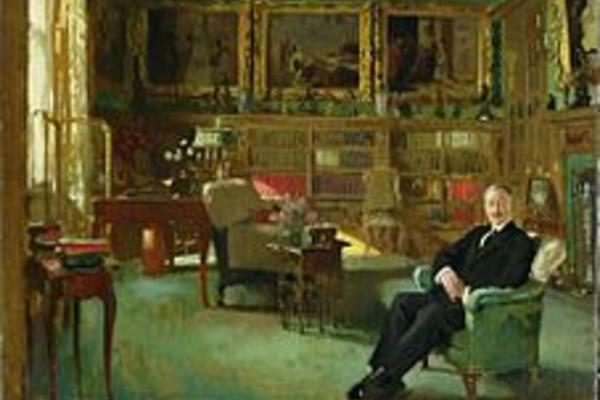 william orpen/ otto beit in his study at belgrave square