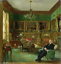 william orpen/ otto beit in his study at belgrave square